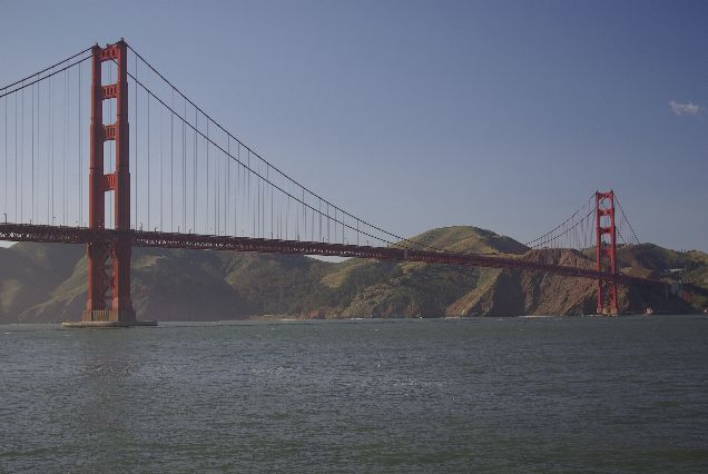 Golden Gate bridge, late afternoon